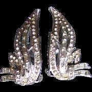 Hattie Carnegie Rhinestone Earrings