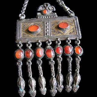 Vintage Sterling Turkoman X-Large Necklace