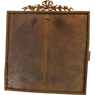 French Cast Brass Picture Frame-Signed- Vintage