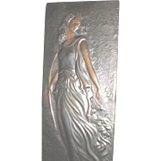 Art Nouveau Lg. Copper Diana Goddess of the Hunt