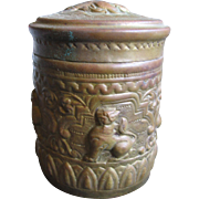 OLD Embossed Tea Caddy Fabulous Brass