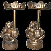 Vintage Monkey Candle Holders -Year of the Monkey --