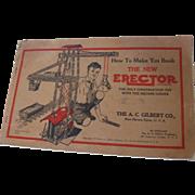 "1934 Gilbert Erector ""How To"" Book"