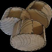 3 Deco Parchment Shades