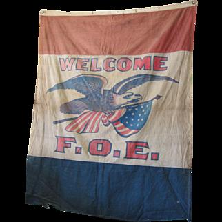 1910 Fraternal of Eagles Lg, Banner/Flag