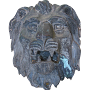Antique Architectural Copper Lion -Large-