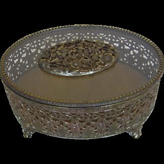 Vintage Oval Jewelry Box