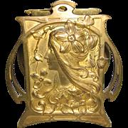 Art Nouveau Double slot Letter Holder