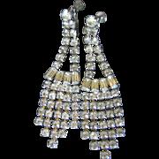 Xtra Long Dangle Rhinestone Earrings
