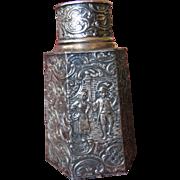 Derby S.P.O. Reposse Tea Caddy -- 1890s