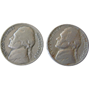 1939D and 1950D Nickel