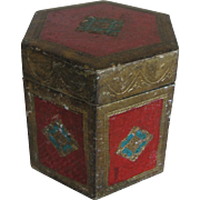 Vintage Florentia Hexagone Tea Caddy