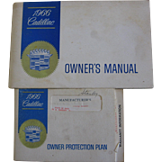 1966 Cadillac Ownwer's Manual and Protection Plan
