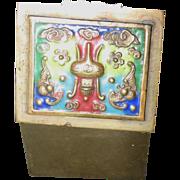 Vintage Champleve Stamp Box