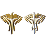 JJ 1988 Thunderbird Earring-Gold Tone-