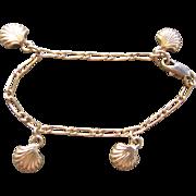 Vintage Baby Charm Bracelet-Puffy Shells-
