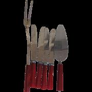 Red Bakelite Handle Kitchenware -6-