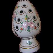 Bohemian Czech Glass RARE Vintage Boudoir Lamp