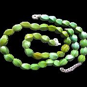 Estate Turquoise -Sterling Necklace and Bracelet--Vintage-