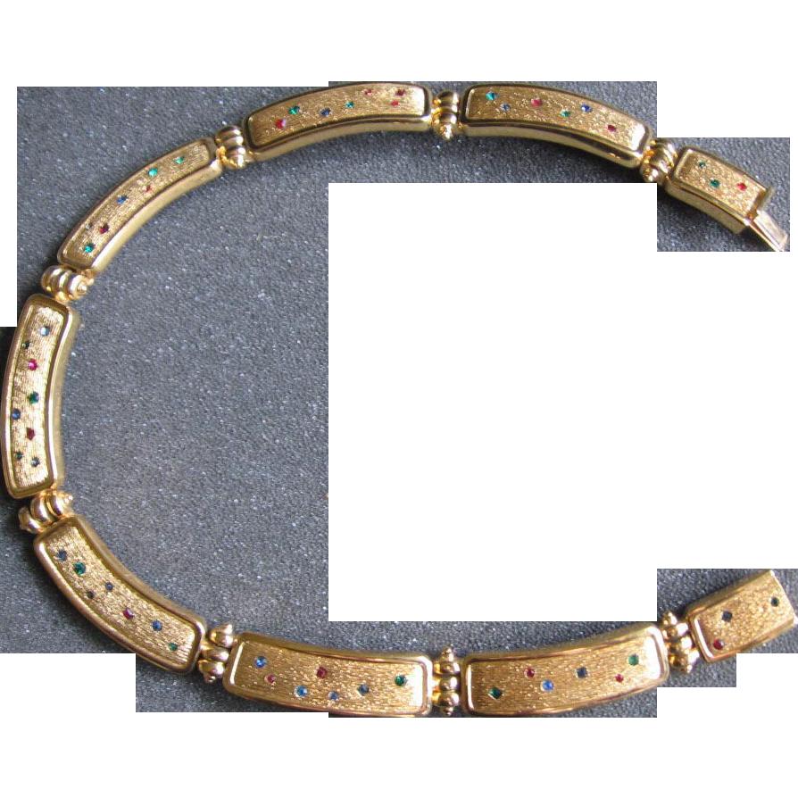 Bijoux Vintage Dior : Chr dior link choker necklace from rubylane sold on ruby lane