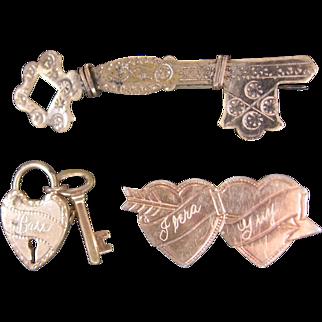 3 Vintage Sweetheart Pin