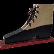 Folk Art Shoe Lacing Teaching Toy