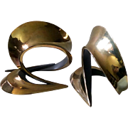 """Bob Bennett Abstract Bronze """"Cycle"""" Sculpture Bookends, Signed and Numbered 37/250 with Certificate of Authenticity"""