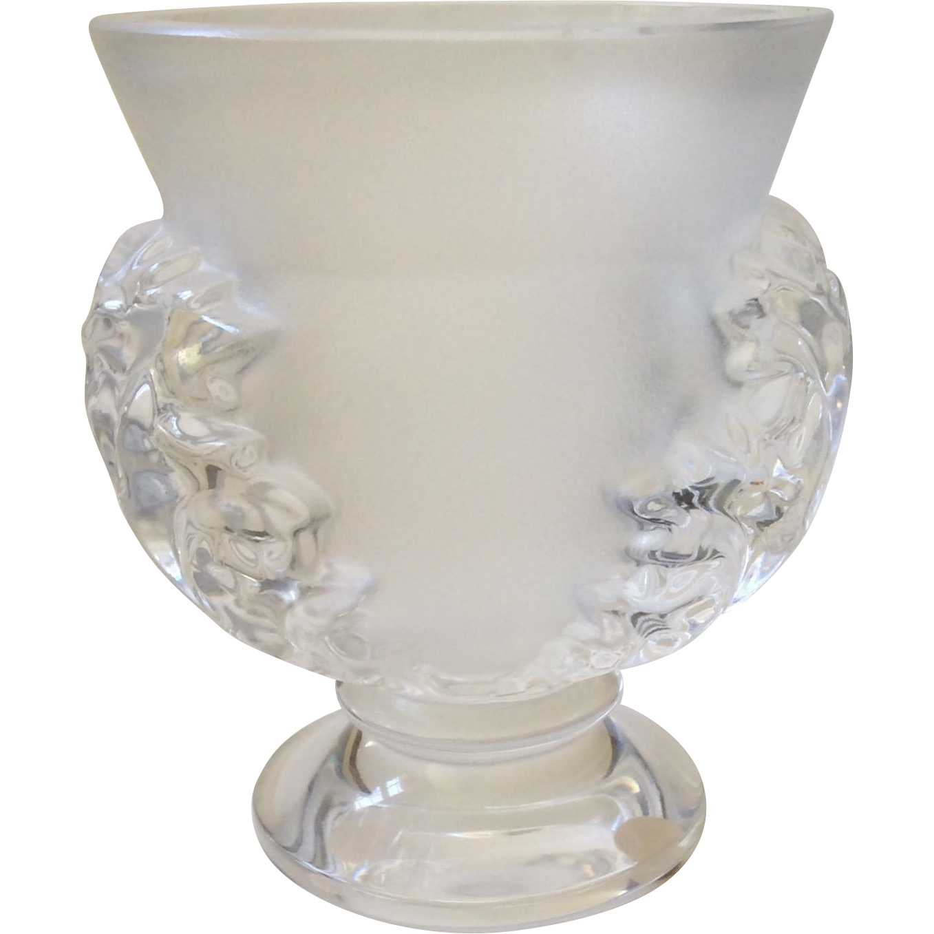 Lalique st cloud crystal vase mint condition from for Lalique vase