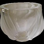 Lalique Deux Tulipes Crystal Vase, Mint Condition