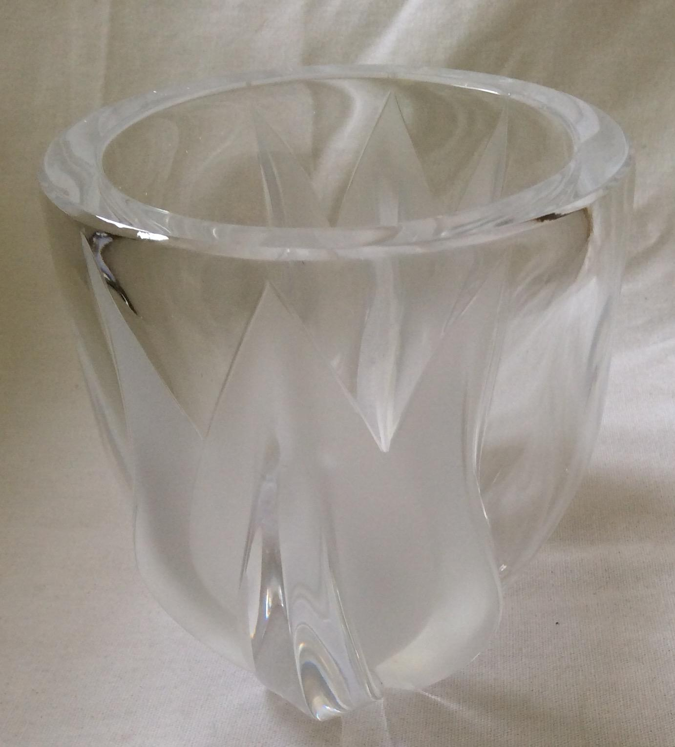 Lalique Deux Tulipes Crystal Vase Mint Condition From Archetypes On Ruby Lane