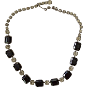 Sapphire Rhinestone Choker Necklace