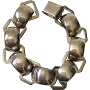 Taxco Half-Circles Sterling Silver Bracelet