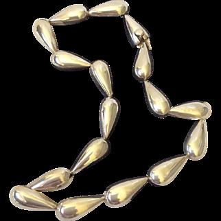 Spratling Design Sterling Silver Teardrop Link Necklace by Maria Pineda