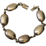 Taxco Modernist Sterling Silver Oval Link Bracelet