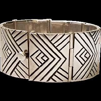 Fred Davis Design 970 Silver Bracelet by Gildardo Juarez, 128 grams!