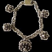 Sterling Silver Etruscan Bead Bracelet
