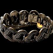 Los Castillo Taxco Sterling Silver Open Link Bracelet