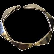 """Hans Hansen Denmark Modernist Sterling Silver """"Boomerang"""" Bracelet"""