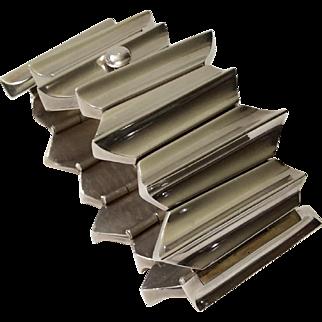 Antonio Pineda Taxco 970 Silver Zig Zag Bracelet, 140 grams