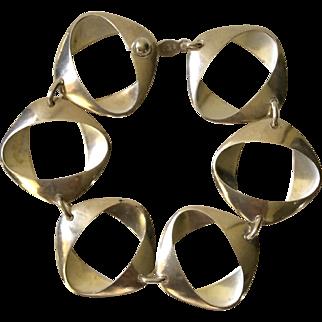 Georg Jensen Sterling Silver Link Bracelet #190 by Henning Koppel