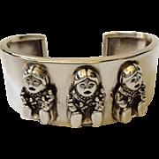 Carol Felley Sterling Silver Storyteller Cuff Bracelet, 1990