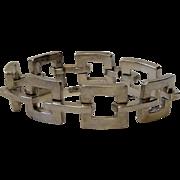 Taxco Modernist Sterling Silver Link Bracelet