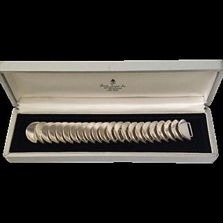 RARE Georg Jensen Sterling Silver Modernist Disc Bracelet #169, Astrid Fog Design