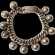 Los Castillo Taxco Sterling Silver Bracelet Design #711, c. 1945