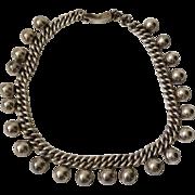 Los Castillo Taxco Sterling Silver Necklace Design #711, c. 1945