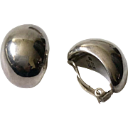 Antonio Pineda Taxco 970 Sterling Silver Modernist Earrings