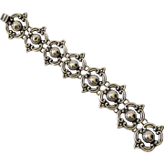 Early Mexican Sterling Silver Art Deco Link Bracelet
