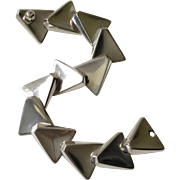 Bent Knudsen Denmark MidCentury Modernist Sterling Silver Bracelet