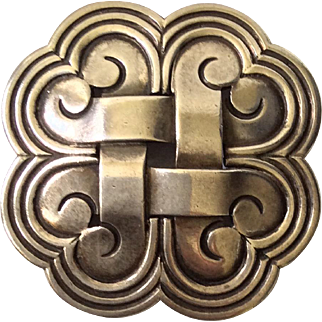 Hector Aguilar Taxco 940 Sterling Silver Modernist Brooch Pin