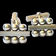 Georg Jensen Denmark Sterling Silver Cufflinks 61A, Designed by Harald Nielsen